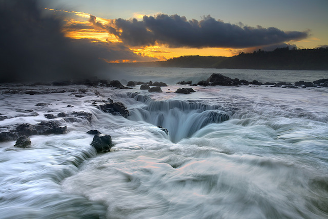 Kauai falls, Hawaii