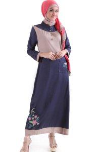 Najya Gamis J48 - Biru Dongker (Toko Jilbab dan Busana Muslimah Terbaru)