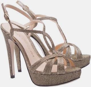 sandálias meia pata tecido glitter ouro Luzia Barcelos coleção inverno 2014