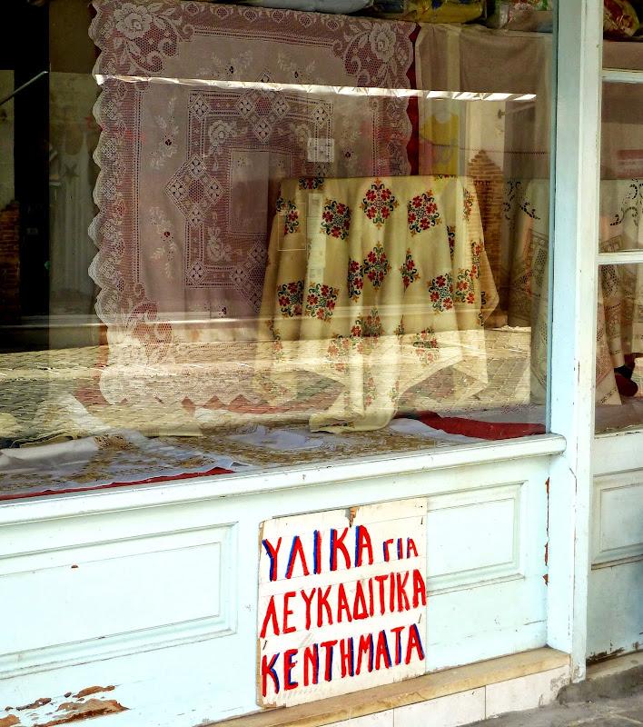 Traditionelles Geschäft in der Fußgängerzone von Lefkada Stadt