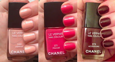Chanel, Chanel nail polish, Chanel Le Vernis Nail Colour, Chanel Emprise, Chanel Fracas, Chanel Accessoire, Chanel 2013 Spring Couture, Chanel 2013 Spring Couture nail polish, Chanel nail polish swatches, Chanel manicure, nail, nails, nail polish, polish, lacquer, nail lacquer, nail polish swatches, nail lacquer swatches, mani, manicure