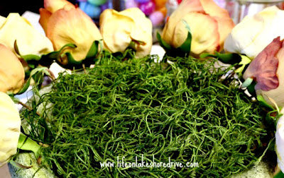 Moss Bunny and Roses in Urn Centerpiece, tutorial, diy, floral arrangement, Easter