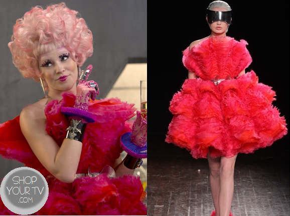 Catching Fire: Effie's Pink Puffed Out Dress