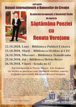 Săptămîna Poeziei cu Renata Verejanu
