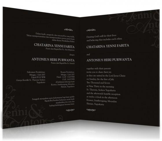 ... undangan pernikahan menggunakan bahasa Indonesia, untuk undangan jenis