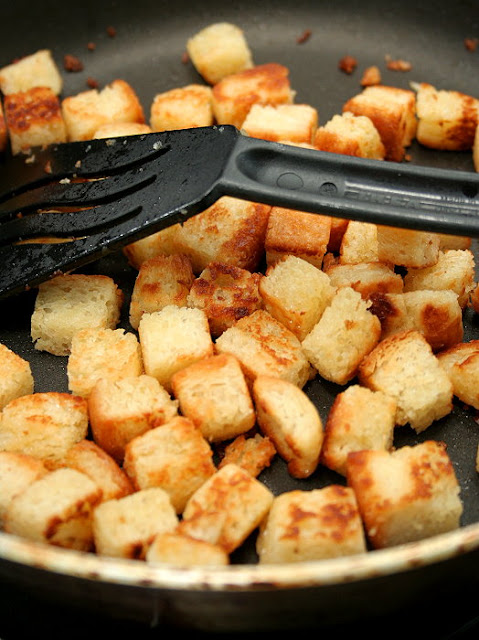 Table for 2.... or more: How to Make Croutons - No Bake Version