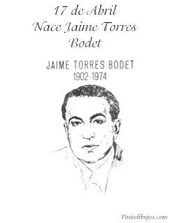 Natalicio de Jaime Torres Bodet para colorear