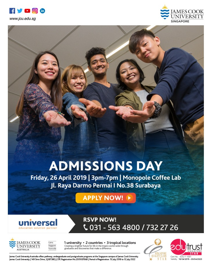 ADMISSIONS DAY - JAMES COOK UNIVERSITY