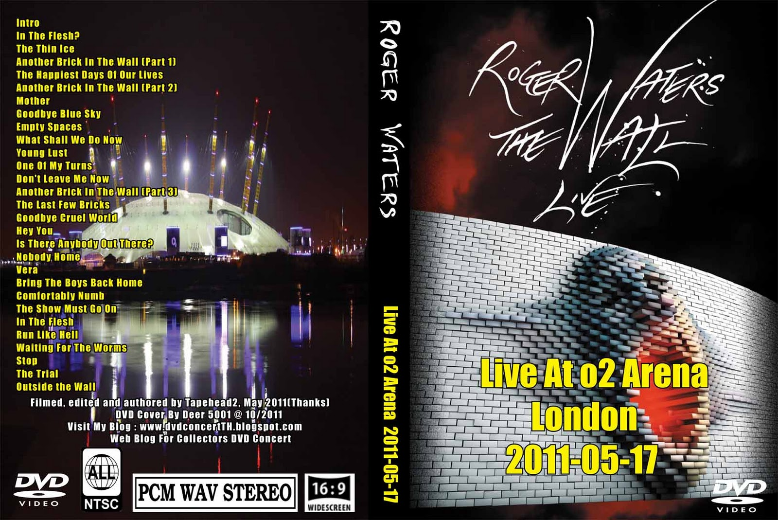 DVD Concert TH Power By Deer 5001: Roger Waters - 2011-05-17 - o2 ...