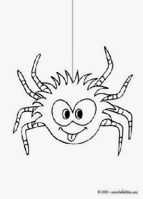 Spider Coloring Sheet