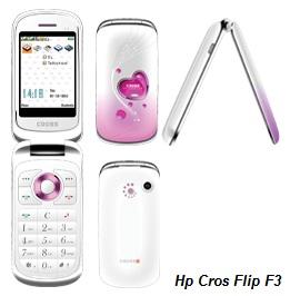 spesifikasi hp cross f3 type dan merk hp cross f3 model flip jaringan