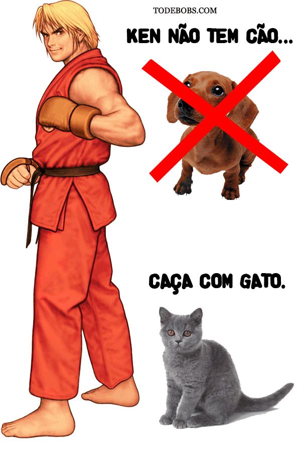 ken Ken não tem cão caça com gato
