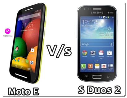 Compare Motorola Moto E and Samsung Galaxy S Duos 2