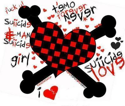 emo heartbroken cartoons. Emo Hearts Wallpapers for