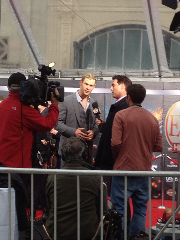 Chris Hemsworth Avengers Premiere