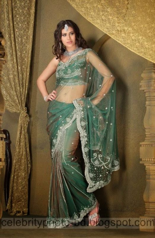 Sexy%2BBelly%2BShow%2BSaree%2BCollection%2B2014 2015%2BFor%2BModels%2BAnd%2BHigh%2BSociety's%2BGirls017