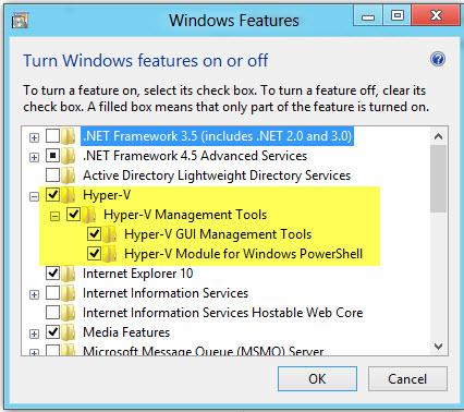 how to turn off hyper-v windows 8