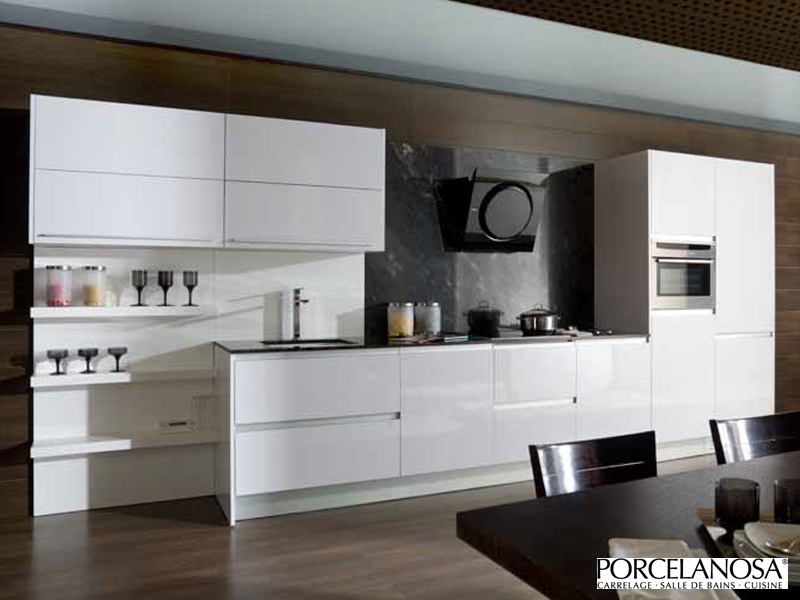 cuisine design blanche. Black Bedroom Furniture Sets. Home Design Ideas