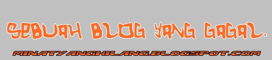 Blog Minat yang Hilang