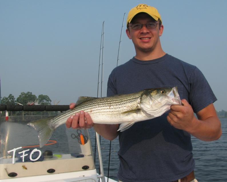Degs fishing report topwater stripers for Striper fishing report