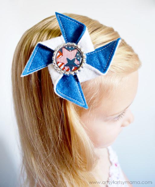 patriotic necklace and pinwheel