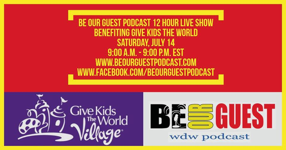 Click to Donate to the 2018 Be Our Guest Podcast Live Show