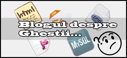 Blogul despre web design, lectii php, programare web