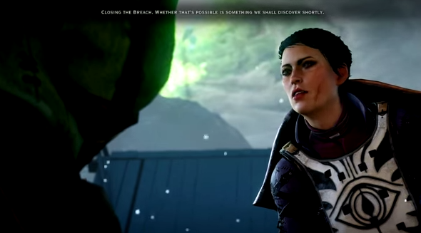 Cassandra tells the Inquisitor-to-be that the world's going to hell. Par for the course for this lady.