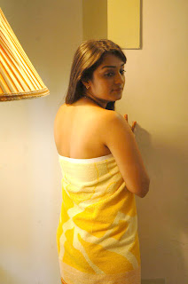 South Indian Actress Nikitha Hot in Bath Towel Pictures