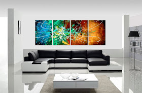 "ORIGINAL ABSTRACT PAINTING ""PURE ENERGY"" -SHIPPING IS FREE"