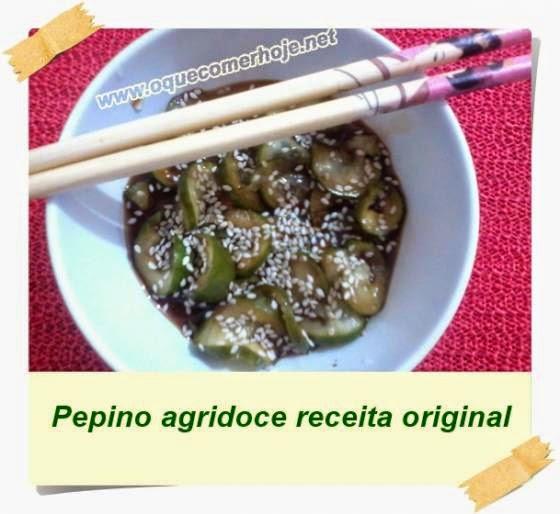 Salada de Pepino agridoce, receita fácil fácil