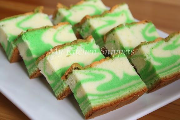 Pandan Marble Cake Recipe