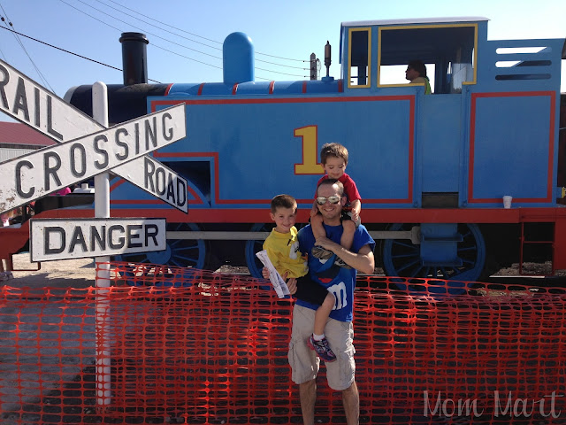 The boys with Thomas the Train at A Day Out With Thomas
