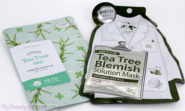 Tea tree sheet masks