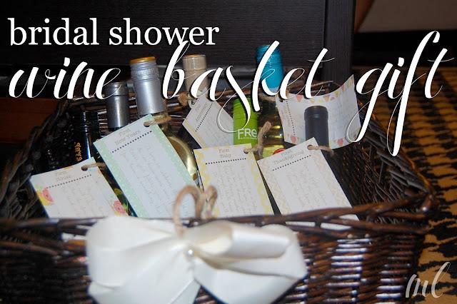 Wedding Gift Basket For Sister : life by ML: bridal shower wine basket