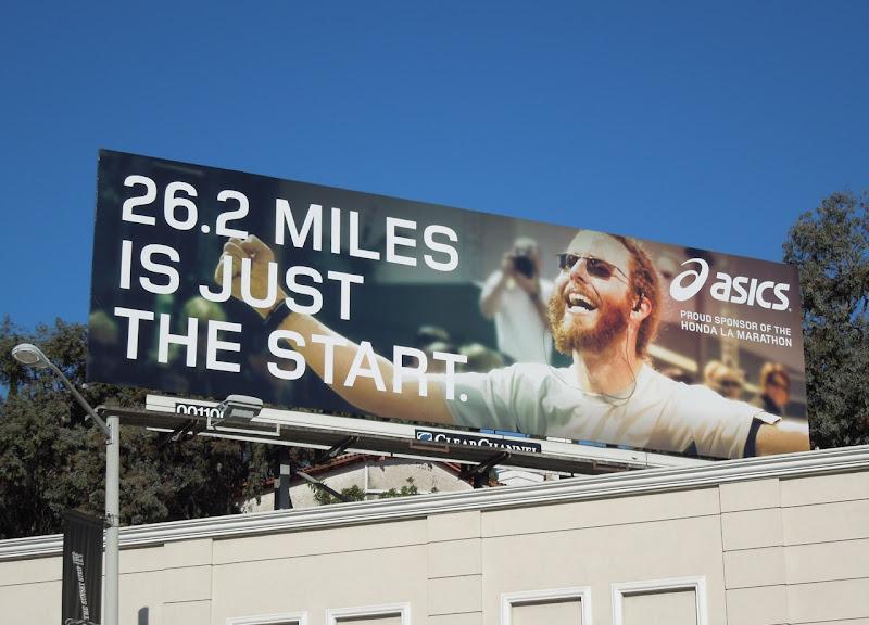 Asics LA marathon billboard