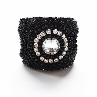 BLACK CUFF, elisha francis, statement jewellery, luxury jewellery, sale, handmade jewellery