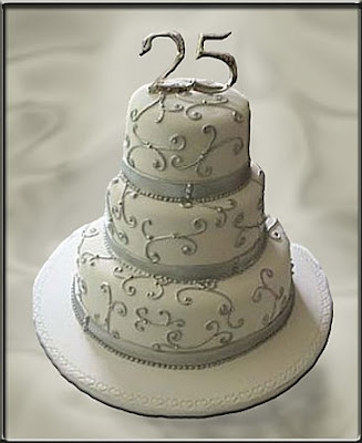 Cakes and cakes 25th wedding anniversary for 25 year anniversary decoration ideas