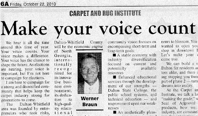 Werner Braun - Dalton, GA: More Than Just a Carpet Town