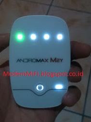 Cara Membaca Lampu Indikator Wifi Andromax M2Y