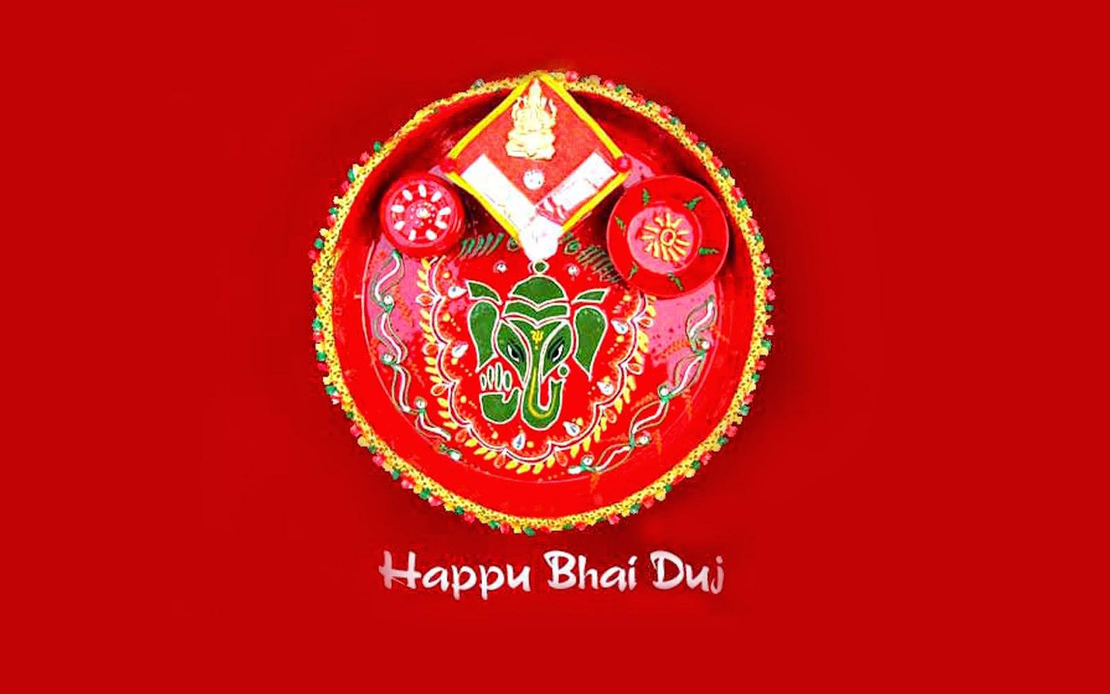 Bhai Dooj Celebration Red Wallpaper