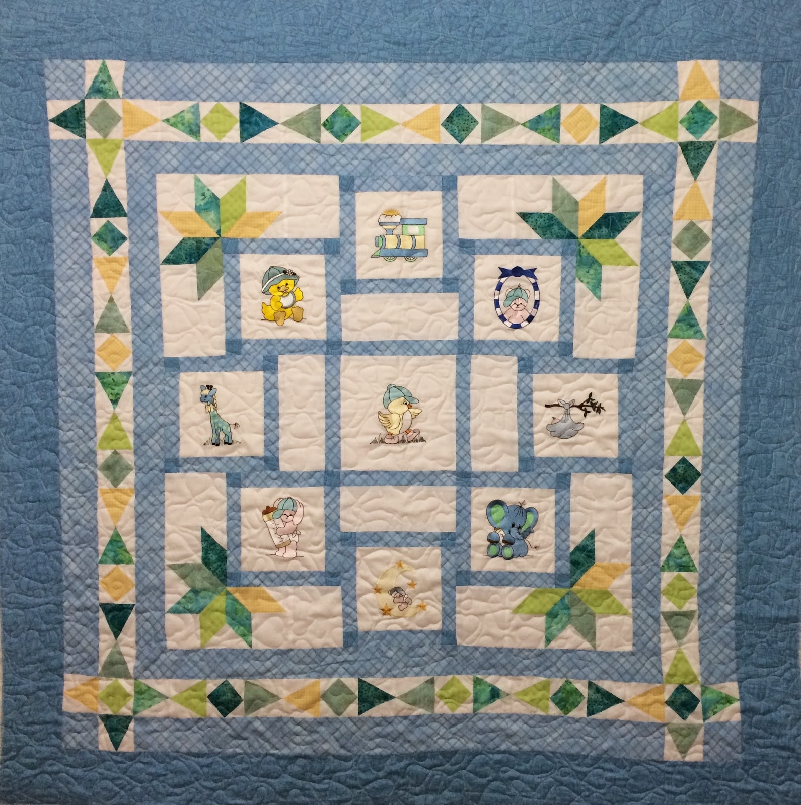Joan Salesman's Baby Embroidery Quilt