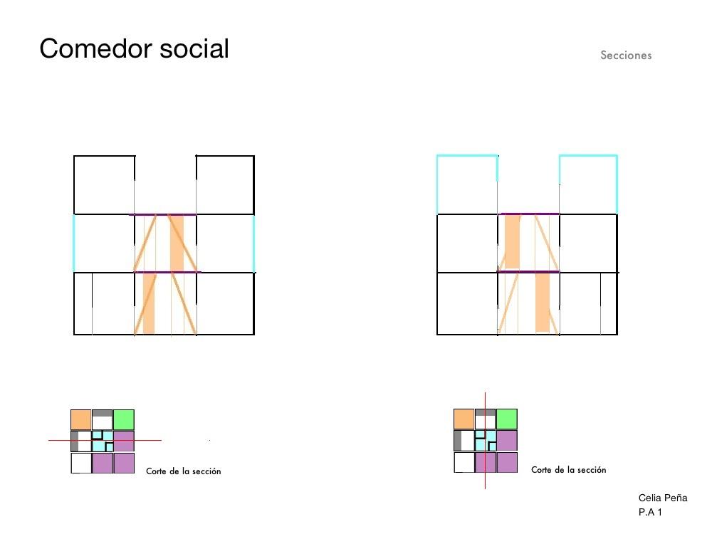 Proyectos arquitect nicos i proyecto final 3 comedor social for Proyecto comedor social