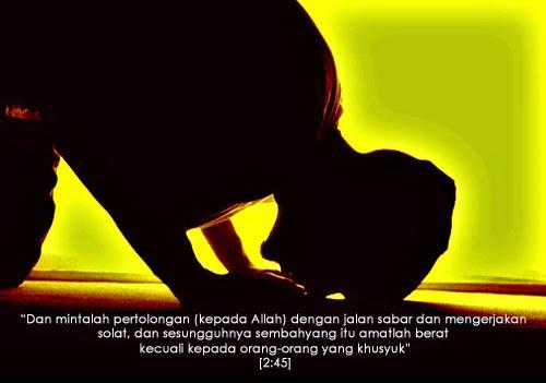 Di sebalik solat terdapat 5 Janji seorang hamba kepada Allah