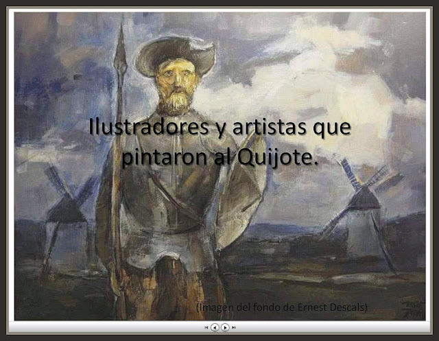 QUIJOTE-MANCHA-PINTORES-ILUSTRADORES-VIDEOS-ARTE-CUADROS-PINTOR-ERNEST DESCALS-