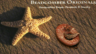 Resin / Copper Pendant / Clasp focal (with Tina's signature, a star fish!) by Tina Holden @ Beadcomber Originals :: All Pretty Things