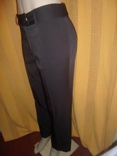 calça marrom social   poliéster com elastano