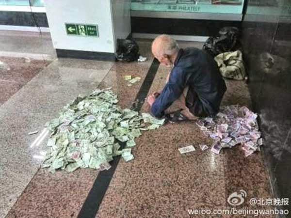 rich beggar
