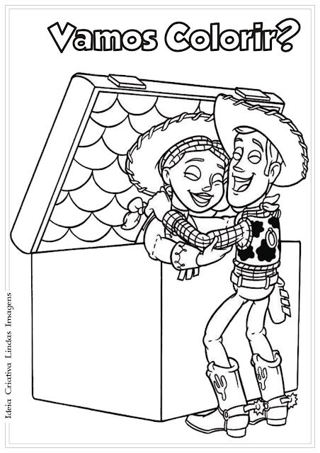 Toy Story desenho para colorir