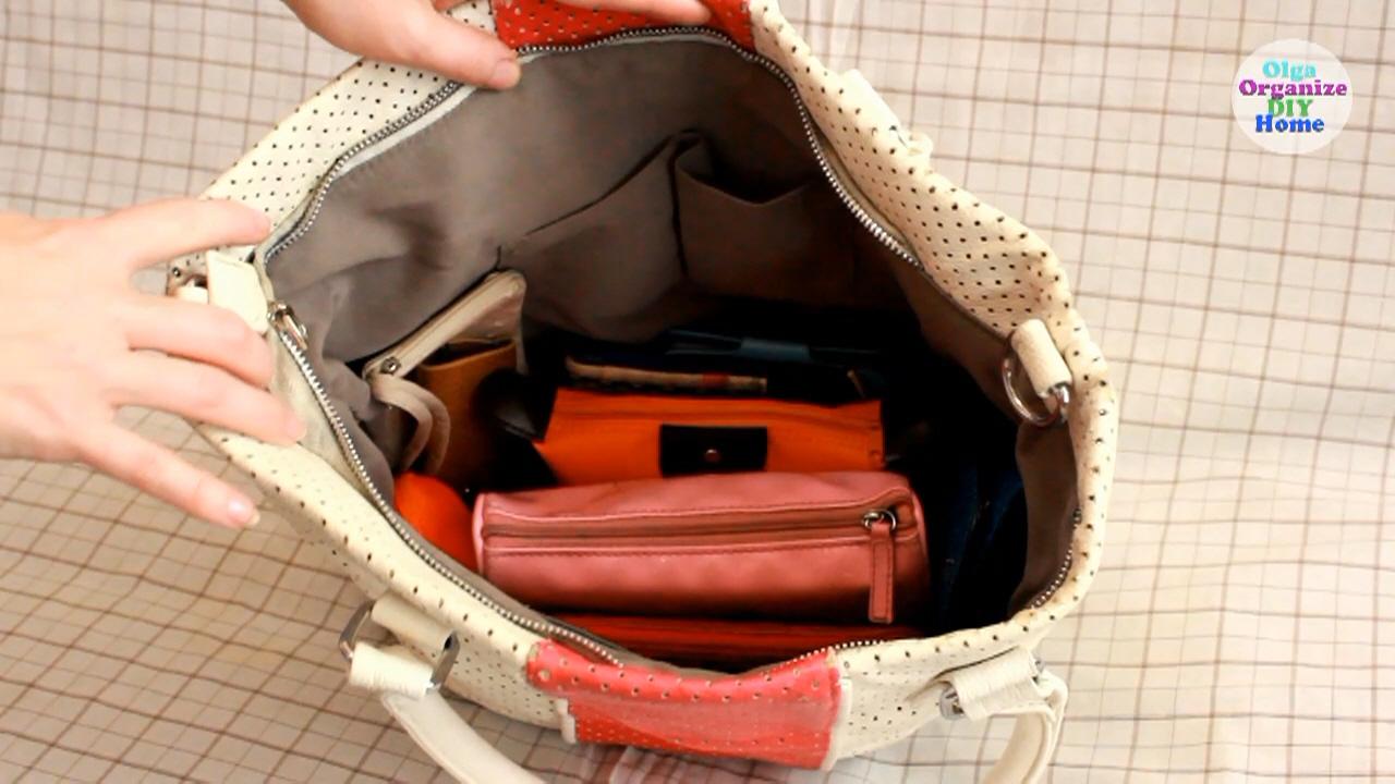 как организовать порядок в сумке, органайзер для сумки